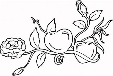 coloring pages with hearts and flowers heart coloring pages part 2