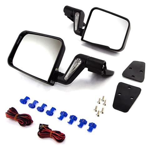 Jeep Yj Mirrors All Things Jeep Heated Door Mirror Kit For Jeep Wrangler