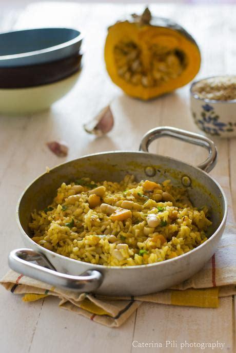 ricette con la zucca mantovana riso integrale con zucca mantovana fagioli cannellini e