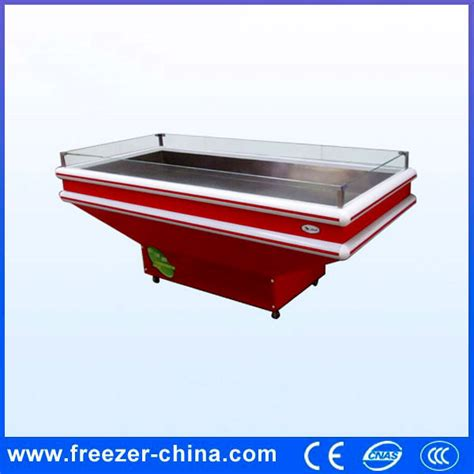 Freezer China glacial table table supermarket frozen food seafood display tray