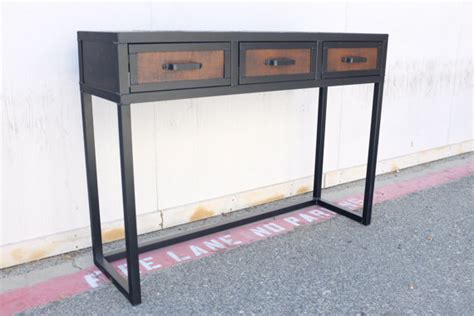 Handmade Console Table - combine 9 industrial furniture handmade console table