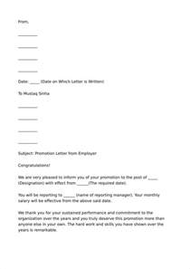 Promotion Letter Of Employee 27 Promotion Letter Templates In Pdf Free Premium Templates