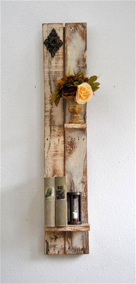 wood pallet shelves diy decorative shelf made from pallets wood pallet furniture diy