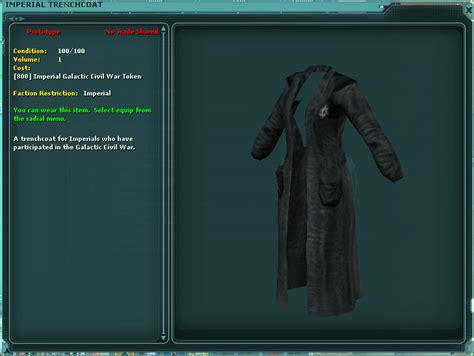 Basicsweaterjacket Keren Starwars imperial trenchcoat swg wiki the wars galaxies wiki
