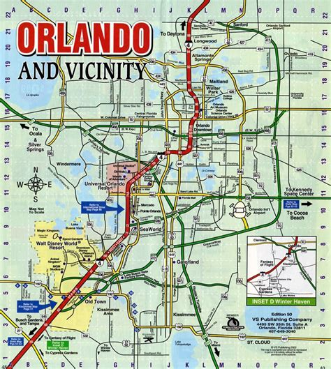 map of orlando fl image gallery orlando map