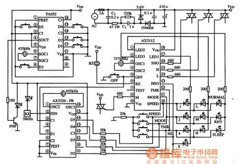 single integrated circuit ax5112 fan single chip microcomputer integrated circuit basic circuit circuit diagram