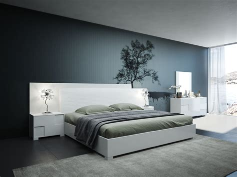 Italian Bedroom Furniture Modern Modrest Monza Italian Modern White Bedroom Set