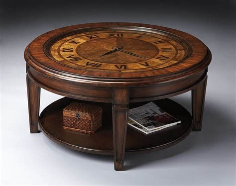 Clock Coffee Table Butler 6047070 Heritage Clock Cocktail Table 6047070 Homelement