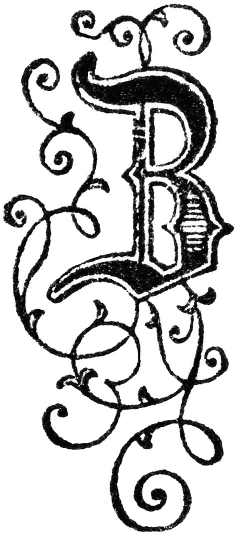 Decorative Letter B by Decorative Letter B Clipart Etc