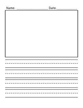 primary writing paper with picture box freebie primary writing paper vertical design with
