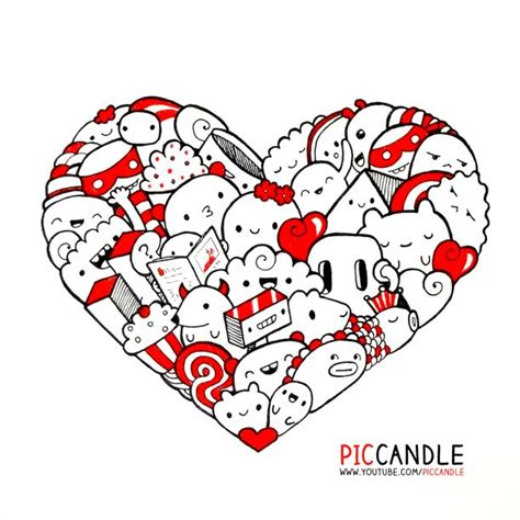 doodle hearts 126 best images about pic candle doodles on