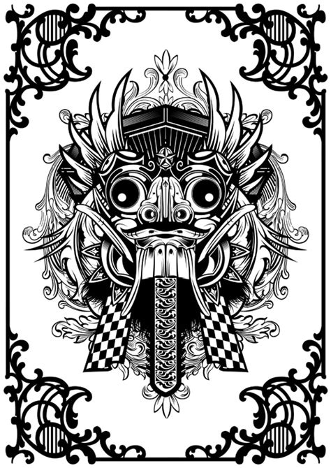 logo tattoo indonesia balinese barong mask sketches tattoo pinterest