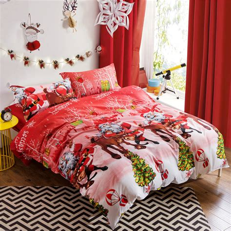 christmas bed sheets online get cheap christmas holiday bedding aliexpress com