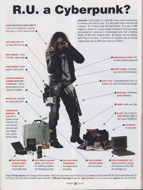 Cyberpunk dress code, circa 1990 / Boing Boing