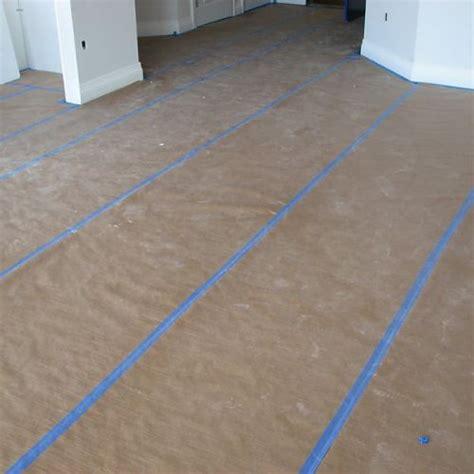 plasticover reinforced kraft floor protection paper