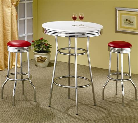 50s Bar Stools Chrome by 50 S Soda In Retro Chrome 3 Counter Height