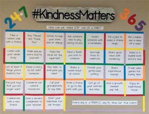 calendar template for bulletin board quot kindness matters quot calendar bulletin board idea