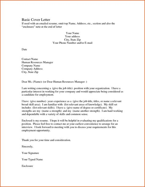 easy resume cover letter simple resume cover letter resume name