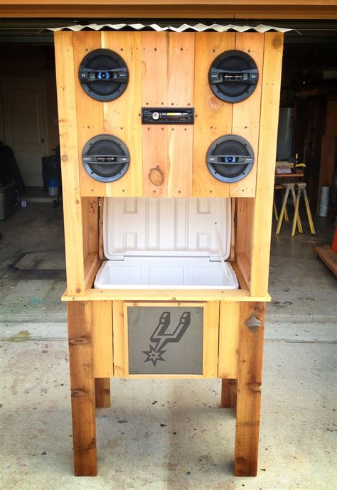 spurs cedar cooler  sony stereo system  images