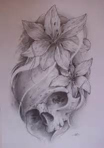 a feminine twist to a skull tattoo would add color to the