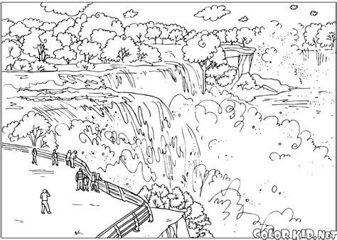 Coloring Page Niagara Falls Niagara Falls Coloring Page