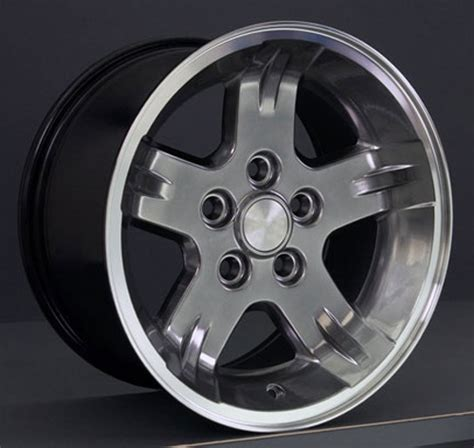 15 Jeep Tires Jp03 15 Inch Hyper Black Machined Lip Wheel For Jeep Wrangler