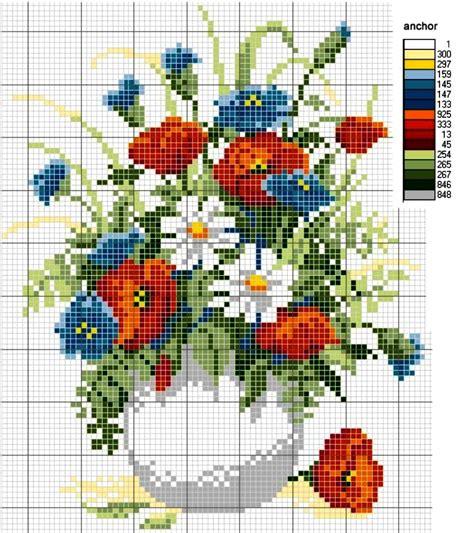 fiori punto a croce grande raccolta di schemi e grafici per punto croce free