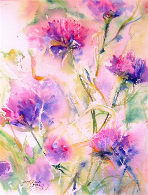 watercolor painting abstract flower original watercolor painting by
