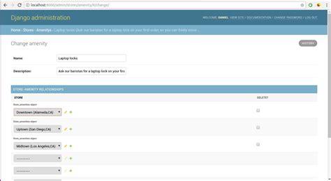 django creating a model django admin create update delete record options