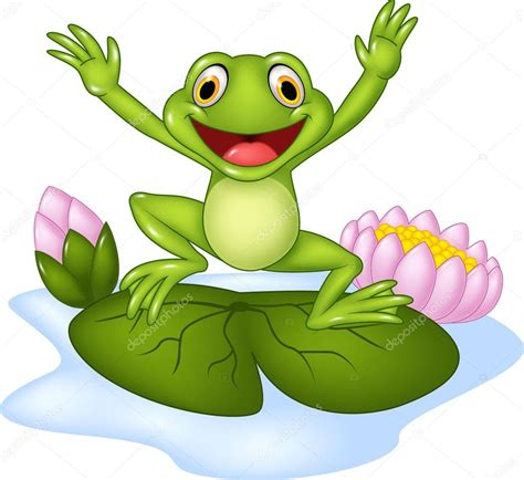 imagenes de ranas de feliz noche rana feliz de dibujos animados saltar sobre un nen 250 far