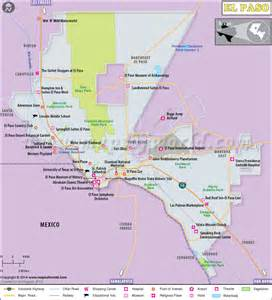 Distance From To El Paso El Paso Map El Paso Map
