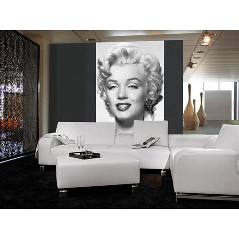 ideal decor wall murals ideal decor 100 in x 72 in marilyn wall mural dm412 the home depot