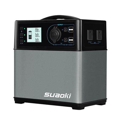 suaoki 400wh portable solar generator