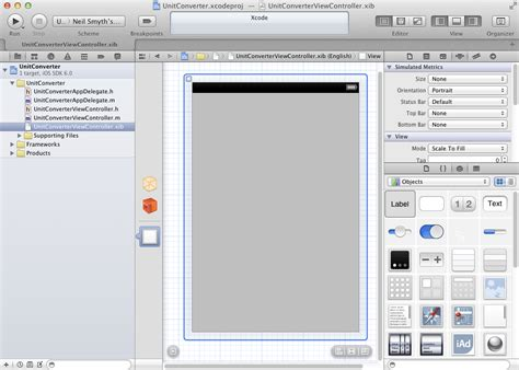 xcode object layout creating an interactive ios 6 iphone app techotopia