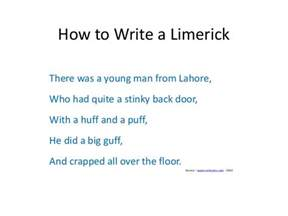 poetry how to write a limerick