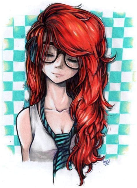 imagenes de hipster anime resultado de imagen para chicas hipster pelirrojas dibujo