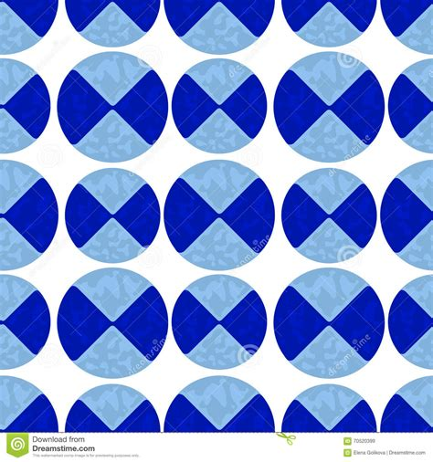 2 Color Pattern Vector | two color pattern of blue circles stock vector image