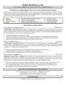 Cpa Resume Template by Cpa Resume Templates Sle Resume Cover Letter Format