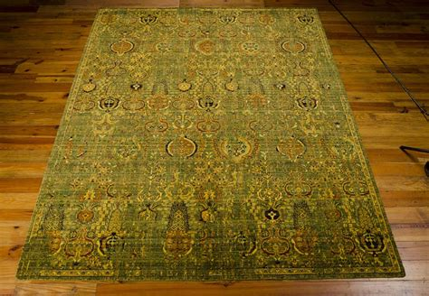 green and gold rug nourison timeless tml11 green gold rug