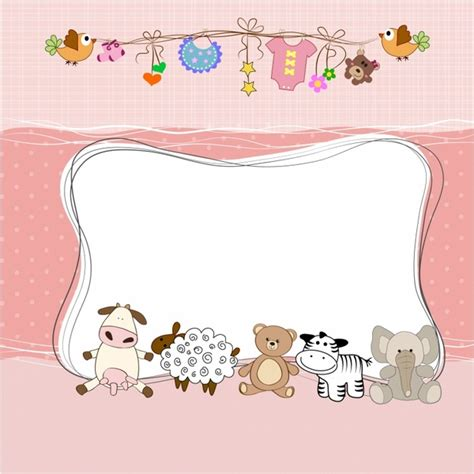 New Born Card Template by Border Clipart New Baby Collection