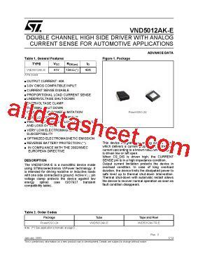h 945 transistor datasheet pdf vnd5012ak e 데이터시트 pdf stmicroelectronics