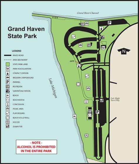 map grand cgrounds grand state parkmaps area guide shoreline