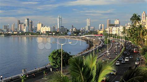 The Web Across The Water mumbai city skyline across the water from marine drive