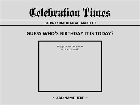 newspaper birthday card template pin by theresa fong on powerpoint