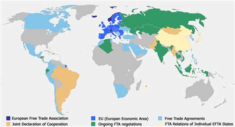 what are trade free trade map european free trade association