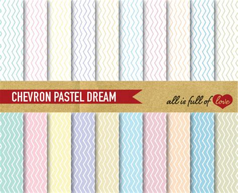 chevron pattern card stock digital paper pack chevron patterned cardstock pastel