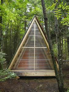 a frame cabin plans relaxshacks a tiny bunk house made from scrap and
