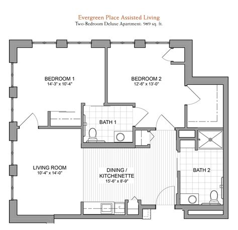 assisted living floor plan floor plans evergreen senior living in orland park il
