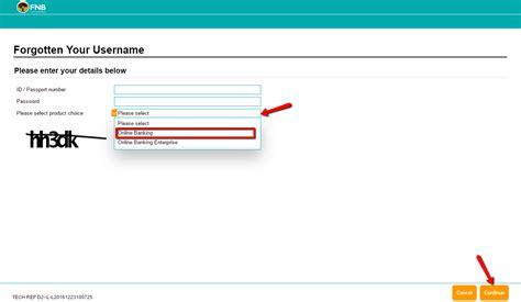 reset fnb online banking details fnb bank online banking login cc bank