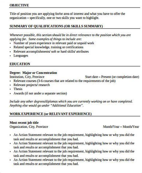 sle work experience resume 10 exles in word pdf